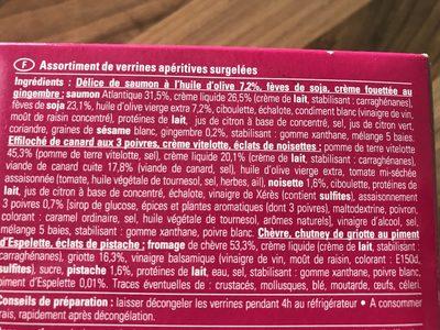 6 Verrines Délicieuses - Ingredients - fr