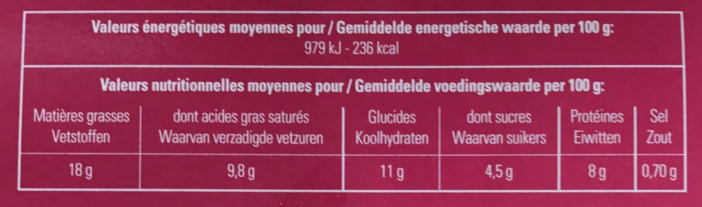 6 Verrines Délicieuses - Nutrition facts - fr