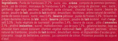 Carré sublime fruits rouges - Ingrédients