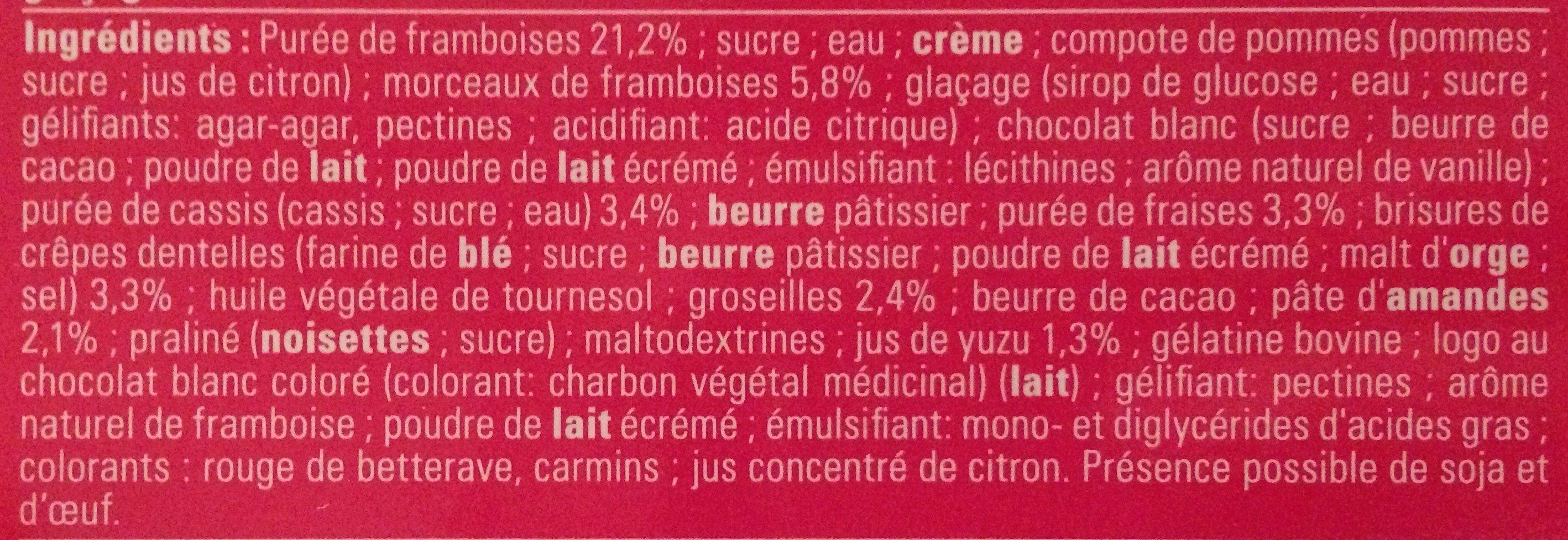 Carré sublime fruits rouges - Ingrédients - fr