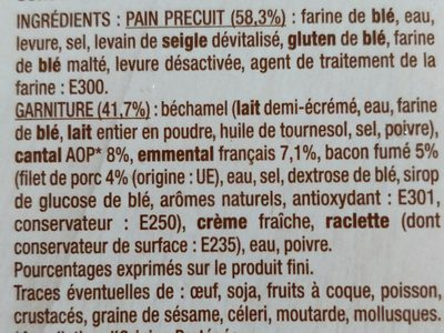 Baguet' Party cantal bacon - Ingredients
