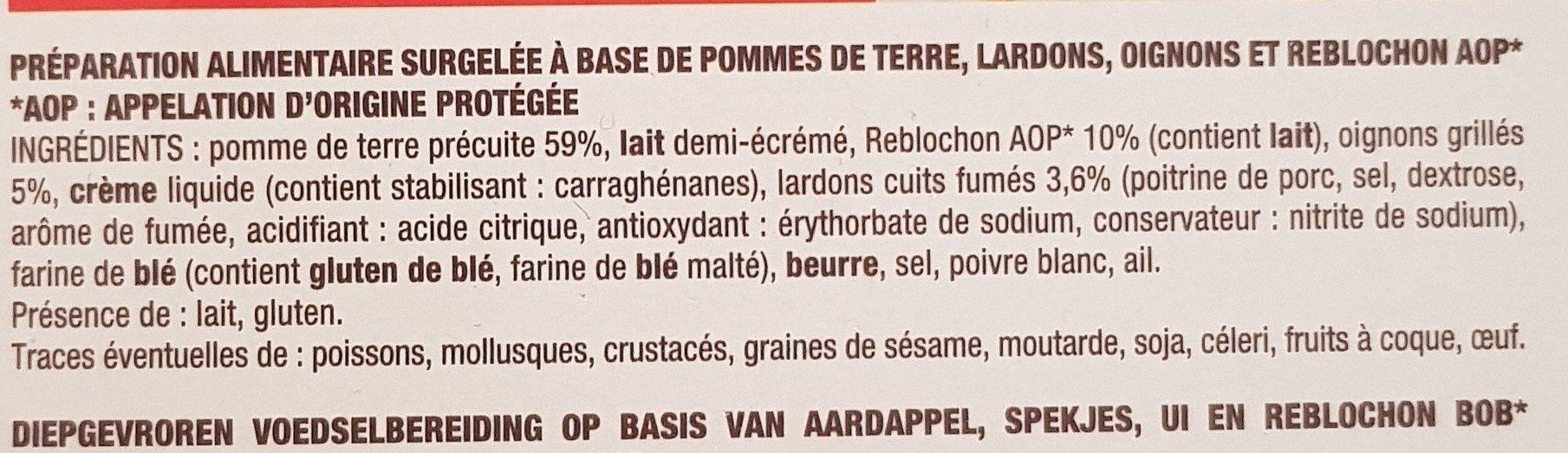 Tartiflette - Ingredients