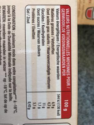 Tartiflette - Nährwertangaben