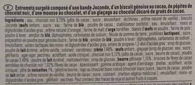 L intense chocolat - Ingrédients - fr