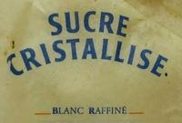 Sucre cristallisé - Ingrédients