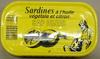 Sardines à l'huile végétale et citron - Product