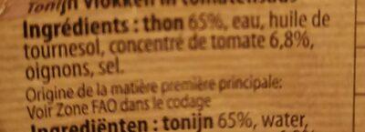 Miettes de Thon à la Sauce Tomate - Ingredienti - fr