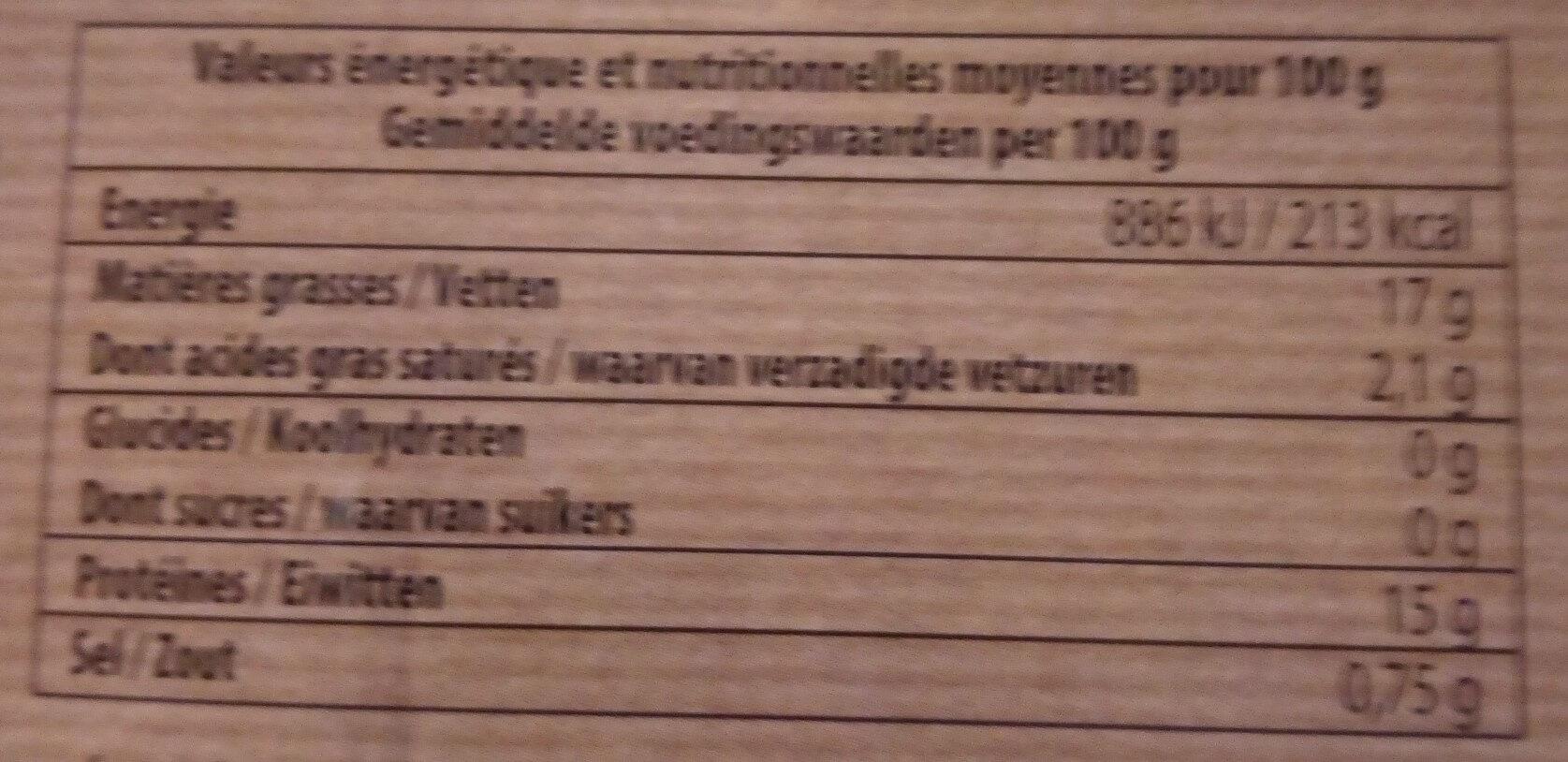 Miettes de Thon à la Sauce Tomate - Valori nutrizionali - fr