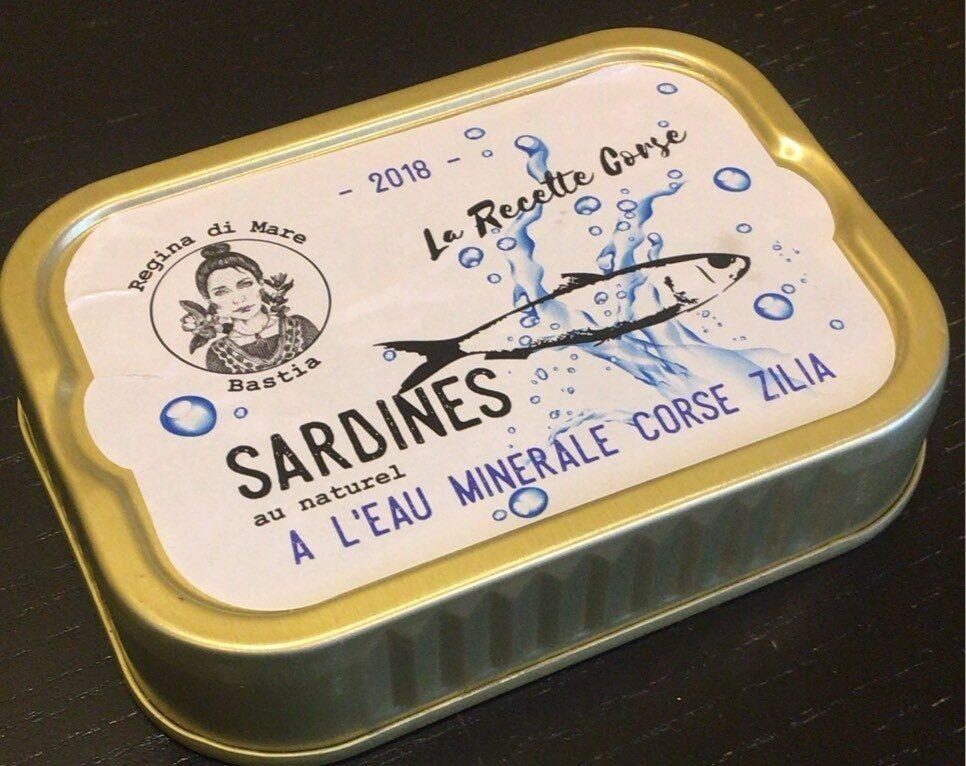 Sardines Au Naturel à l'Eau Minerale Corse Zilia - Product - fr