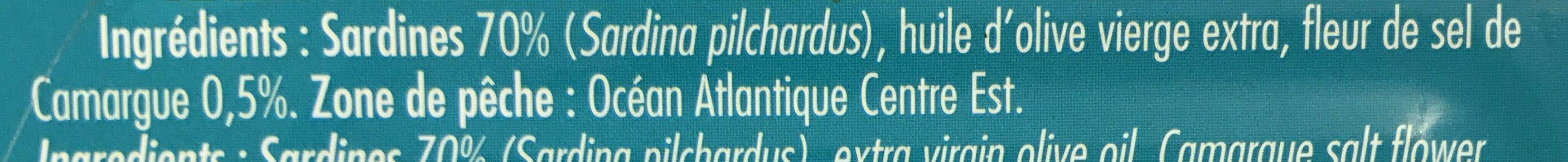 Sardines à l'Huile d'olive et Fleur de Sel - Ingrédients - fr