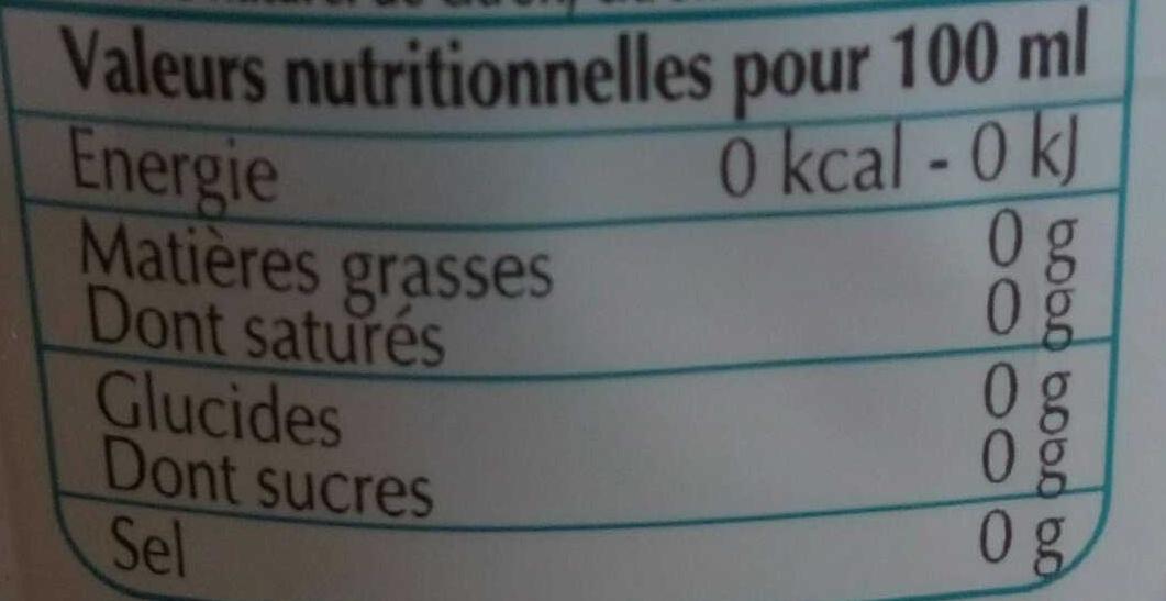 Eau aromatisée gazeuse citron-citron vert-verveine - Informations nutritionnelles - fr