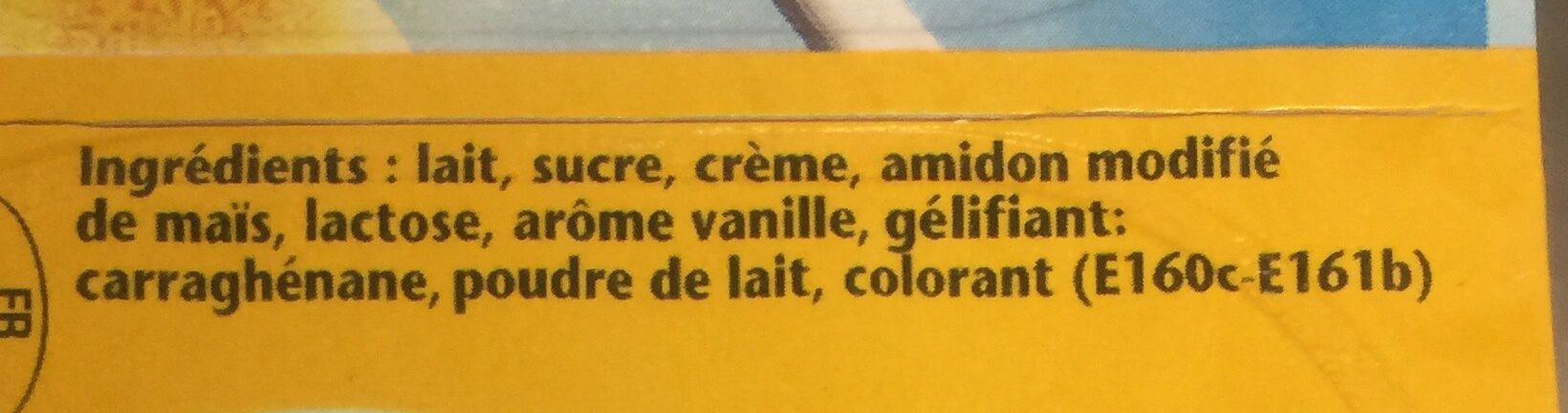 Crème dessert Goût Vanille - Ingredients