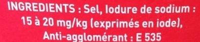 Gros Sel iodé - Ingrédients - fr