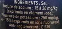 Sel - Ingrediënten