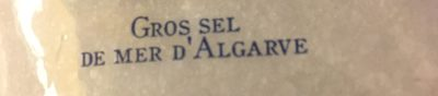 Cerebos Sel De Mer Algrave Sac 1Kg - Ingrédients - fr