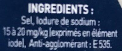 Sel Fin iodé - Ingrédients
