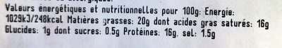 Saint Marcellin - Nutrition facts