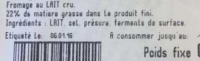 Petit Camembert Normand - Inhaltsstoffe - fr
