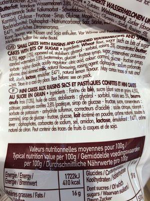 Cakelets - Ingrediënten - fr