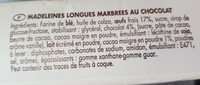 Madeleines marbrées au chocolat - Ingredients