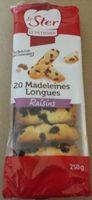 Madeleines longues raisins - Produit - fr