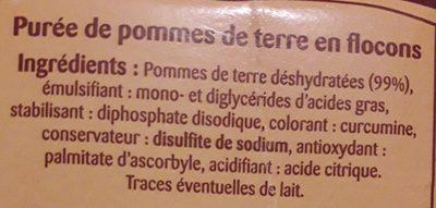Puree 4X125G Mamie Gourmande - Ingrédients - fr