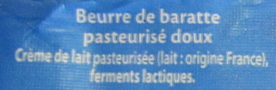 Beurre de Barratte - Ingrédients - fr