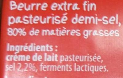 Beurre de Bretagne Demi-Sel - Ingredients