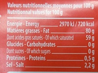 Beurre de Bretagne Demi-Sel - Nutrition facts