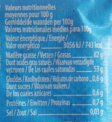 Beurre Doux De Baratte Au Lait Cru - Nutrition facts
