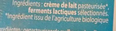 Beurre de Baratte Doux Bio - Ingredients