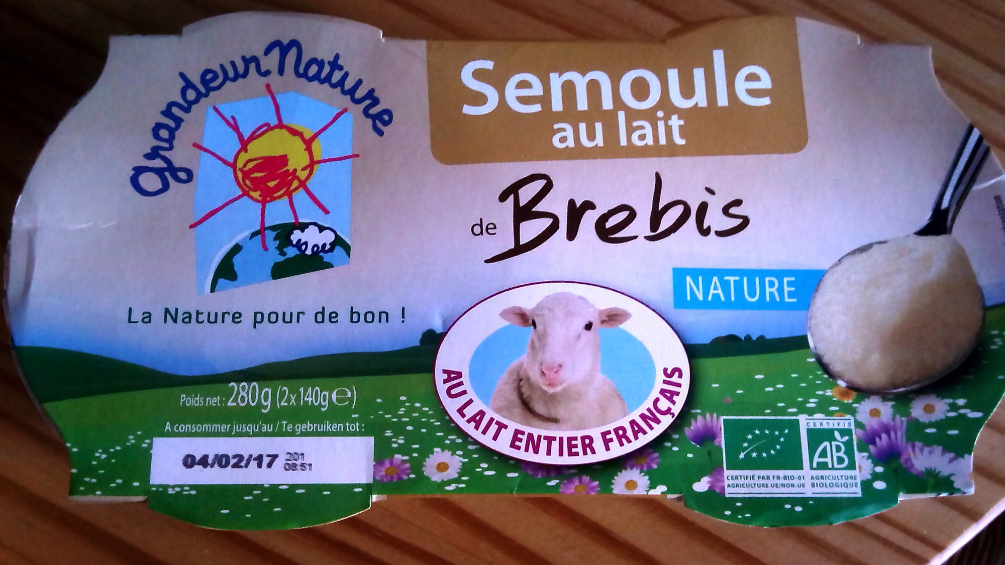 Semoule au Lait de Brebis - Produit - fr