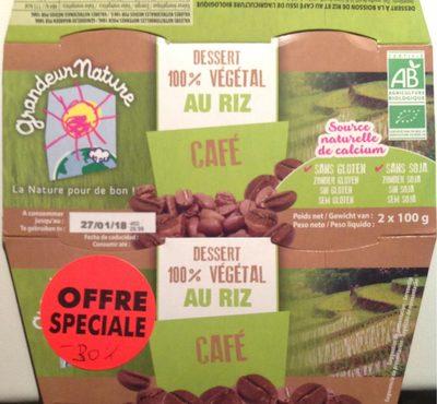 Dessert 100% végétal au riz café - Produit