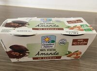 Dessert 100 % vegetal amande au chocolat - Prodotto - fr