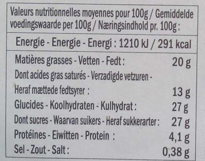 Crème Caramel Beurre Salé - Nutrition facts