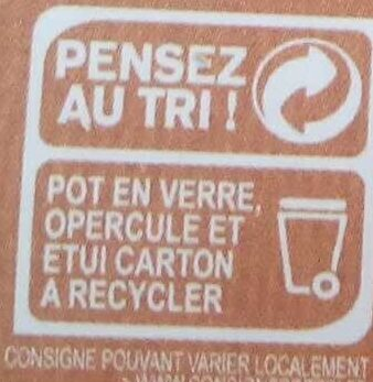 Crème Caramel Beurre Salé - Instruction de recyclage et/ou informations d'emballage - fr