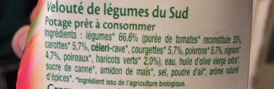 Velouté de légumes du Sud - Ingredienti - fr