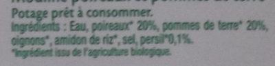 Mouline Poireau Et Pomme De Terre - Ingrédients