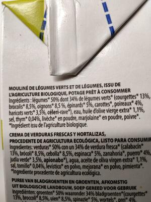 Mouliné du Potager bio - Ingredienti - fr