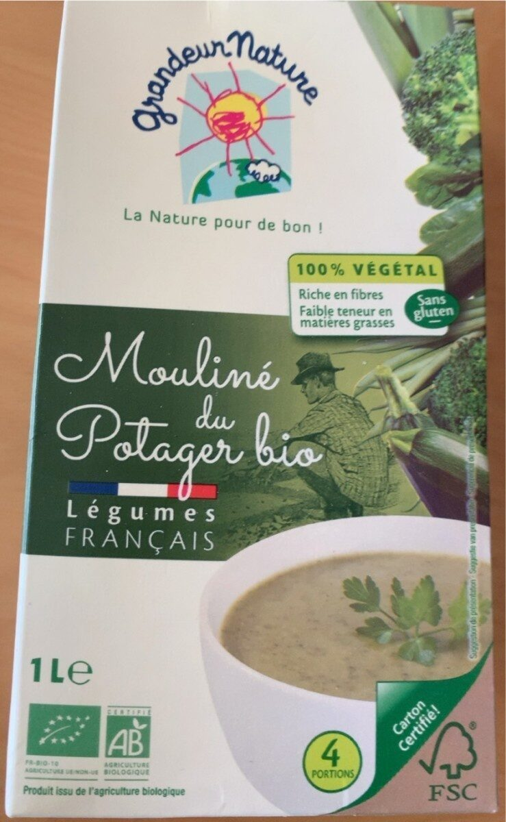 Mouliné du Potager bio - Valori nutrizionali - fr