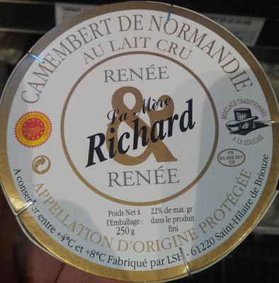 Camembert de Normandie au lait cru (22 % MG) - Product