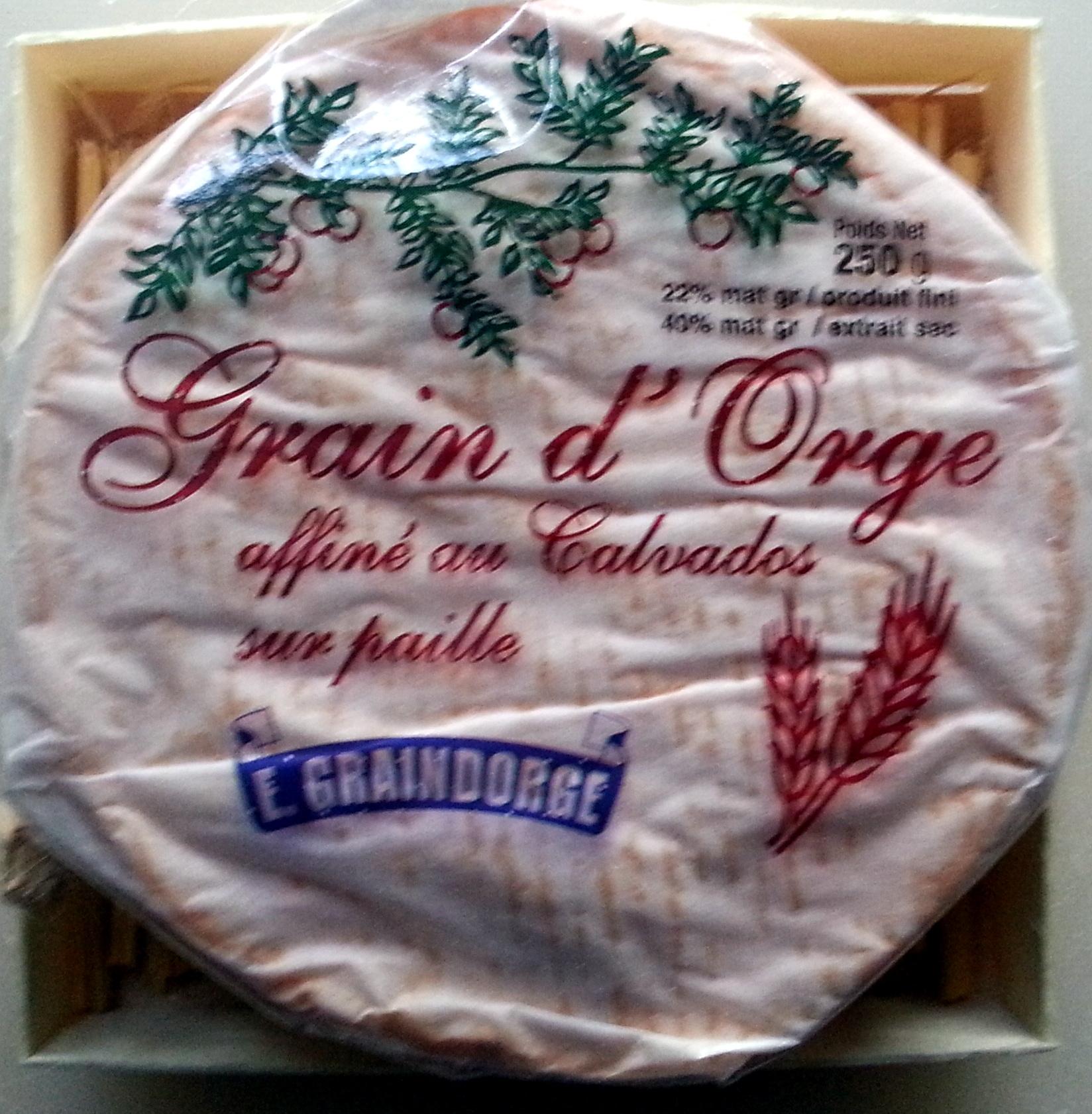 Grain d'Orge affiné au Calvados sur paille (22 % MG) - Product - fr