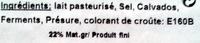 Grain d'Orge affiné au Calvados sur paille (22 % MG) - Ingredients - fr