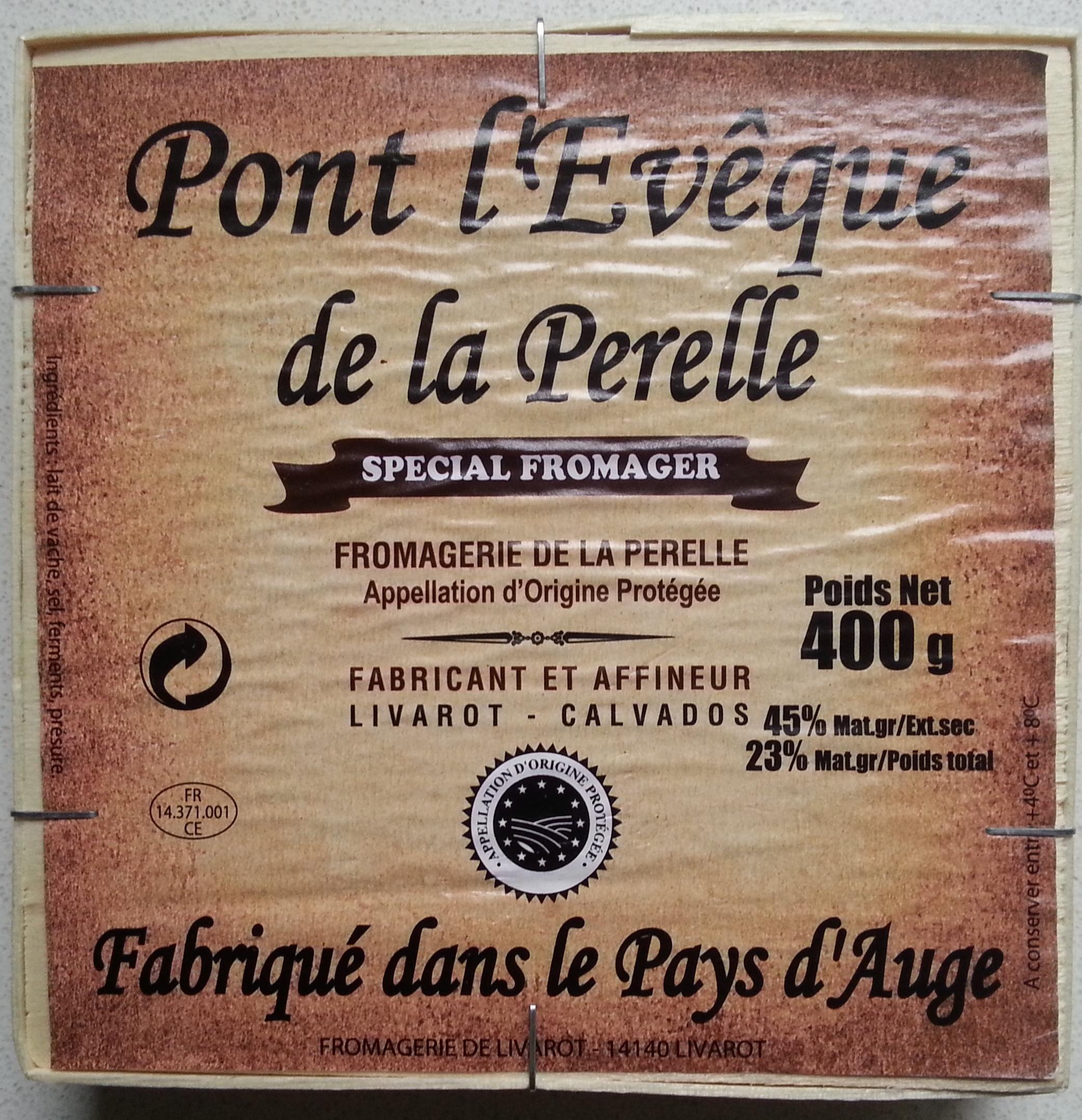Pont l'Évêque de la Perelle spécial fromager (23% MG) - Produit - fr