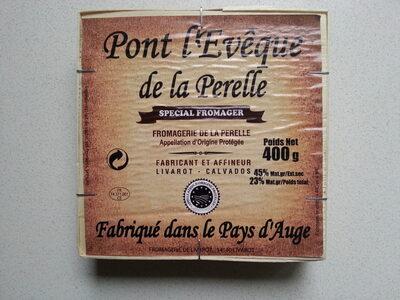 Pont l'Évêque de la Perelle spécial fromager (23% MG) - Informations nutritionnelles - fr