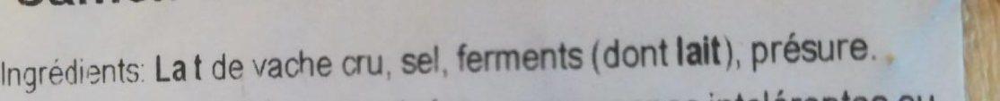 Camembert de Normandie AOP - Ingredients