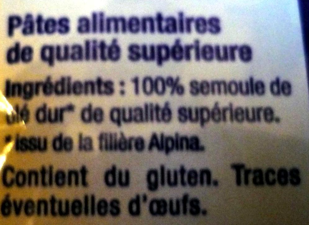 Gros Vermicelles - Ingrédients - fr