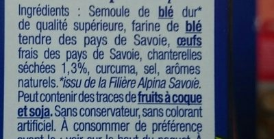 Les Crozets aux Chanterelles - Ingrediënten - fr