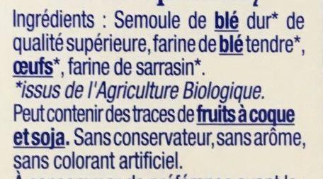 Les crozets - Ingrédients - fr