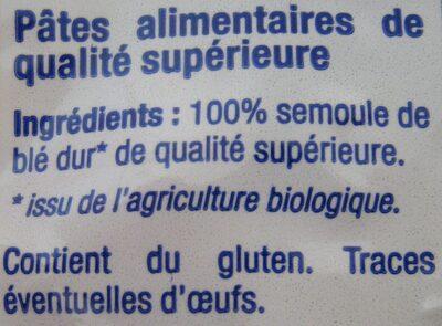 Bio Farfalle - Ingrédients